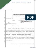 Robinson et al v. Snow et al - Document No. 4