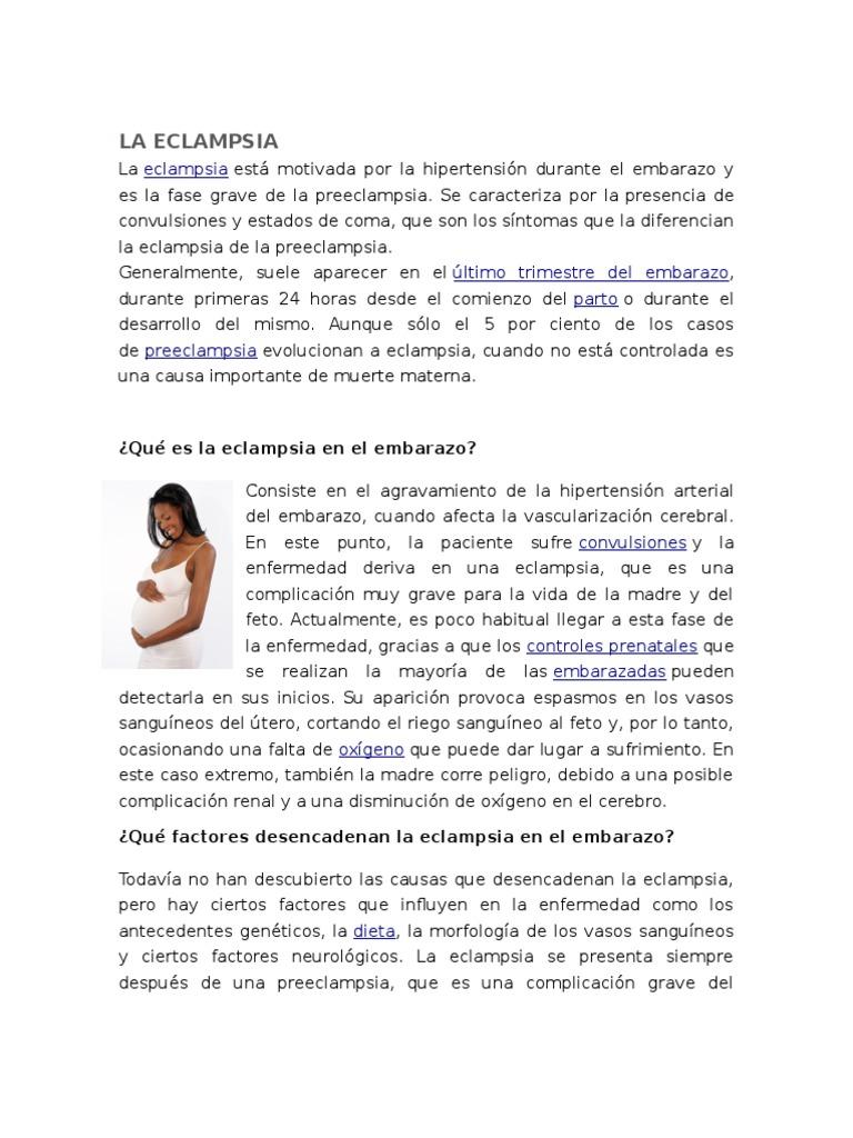 q es la eclampsia en el embarazo