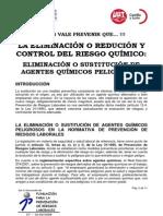 La Eliminación o Reducción y Control Del Riesgo Químico(1)