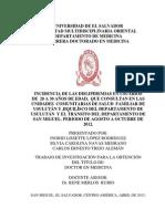 INCIDENCIA DE LAS DISLIPIDEMIAS EN USUARIOS  DE  20 A 30 AÑOS DE EDAD
