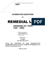 Suggested Answers Remedial Law Bar Exams 1997 2006