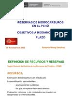 Reservas de Hidrocarburos en El Perú -Roberto Wong