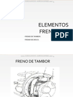 Curso Elementos Frenantes Freno Tambor Disco Mando Mecanico Hidraulico Partes Tipos