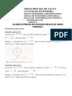 Sesion 4-Extremos de Varias Variables