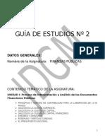 Guia de Estudio de Finanzas Públicas