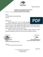 Surat Keterangan SKKM-OBOR I 2013-2014