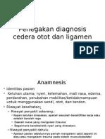 Penegakan Diagnosis Cedera Otot Dan Ligamen