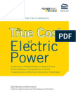 The True Cost of Electric Power