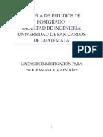 Lineas de Investigacion Epp-2013