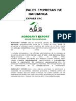 Principales Empresas de Barranca