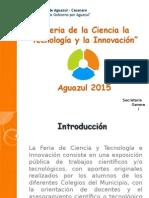 Proyecto CTEI Aguazul 2015