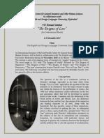 7th Annual Seminar-An Internatinal Event