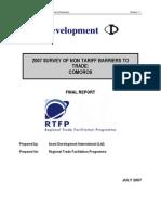 2007 Survey of Non Tariff Barriers to Trade-comoros