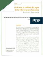 Diagnostico de La Calidad Del Agua de La Microcuenca Sancotea