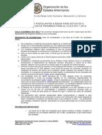 Guia Para Postulantes a Becas Para Estudios o Investigacion de Posgrado Para El Ciclo 2011-2012