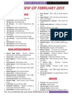 2.February 2015 Current Affairs Quick Review