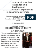 Importance of Investments in Early Years
