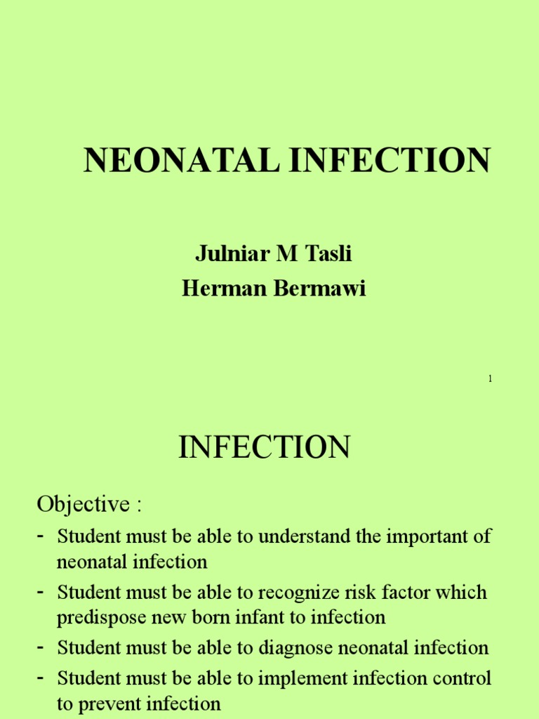 NEONATAL INFECTION.ppt | Sepsis | Immune System