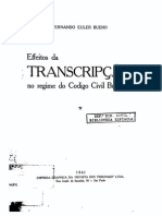 Effeitos Da Transcripção No Regime Do CCB, 1941