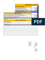 Weights and Costing Template