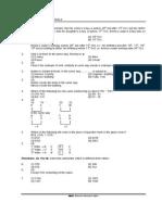 First Sample Paper Ntse-mat-2012