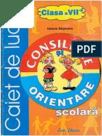 Caiet de Lucru Consiliere Si Orientare Scolara Clasa a VII a PDF