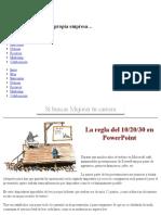 La Regla Del 10-20-30 en PowerPoint