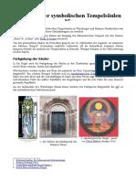 Übersicht Der Symbolischen Tempelsäulen