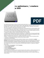 Setari Pentru Optimizare Performante SSD