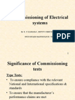 Commissioning of Electrical Systems