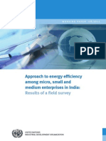 Approach to Energy Efficiency Among Micro, Small and Medium Enterprises in India - Results of a Field Survey