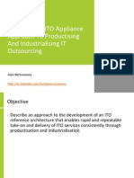 Notes on an ITO Appliance Approach to Productising and Industrialising IT Outsourcing