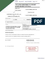 Scientific-Atlanta, Inc et al v. Forgent Networks, Inc. - Document No. 9