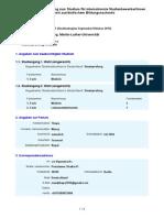 Antrag Halle-Wittenberg, Martin-Luther-Universitaet Wintersemester 2015 (Studienbeginn September Oktober 2015) 1534017 (1)