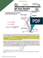 Bridle Point Geometry NASA