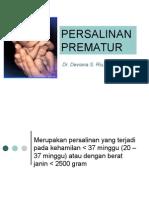 PERSALINAN PREMATUR