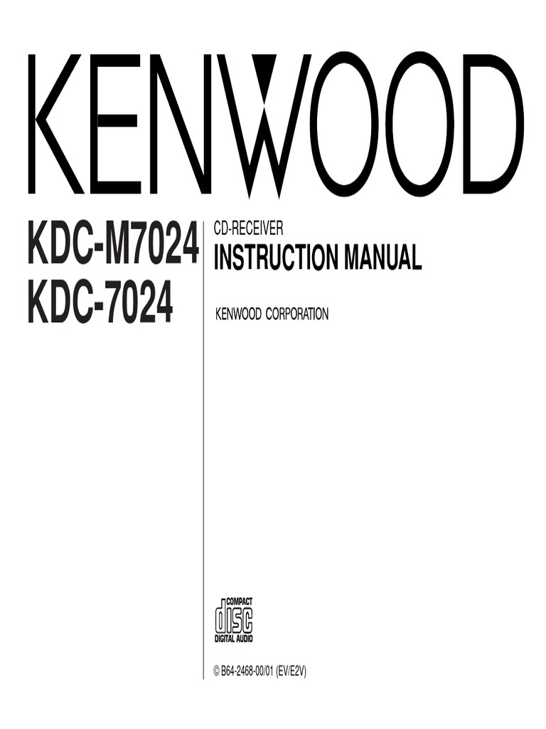 Kenwood Car Audio Kdc 7024 M7024 Instruction Manualpdf Compact Touch Screen In Addition Monte Carlo Wiring Diagram Disc Mp3