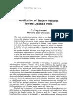 Modification of Student Attitudes