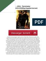 ~ [ES]~ Terminator Génesis.2015.DVDRip.Español.torrent