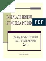 Curs 5 ICPI Sprinklere_2014 Dimensionare