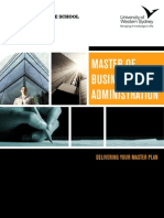 UWS MBA Brochure 2013