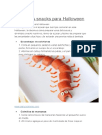 Divertidos Snacks Para Halloween