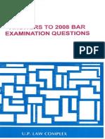 2008 BAR Q&A