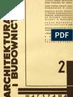 Architektura i budownictwo Nr 2/1933