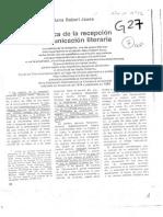 Jauss Hans Robert - Estética de La Recepción y Comunicación Literaria