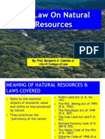 The Law on Natural Resources