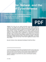 Cyberwar Netwar and the Future of Cyberdefense