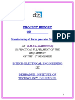 BHEL training report