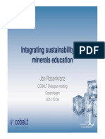Integrating Sustainability Into Minerals Education