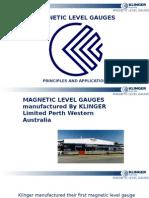 TC-Klinger Magnetic Level Gauge Principles and Application Rev 2C